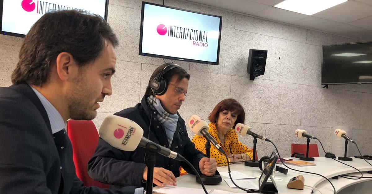 Participación en el programa de Radio Internacional