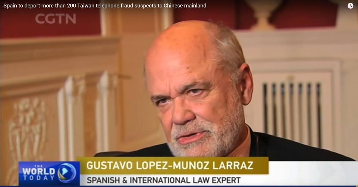 Entrevista a G. López-Muñoz y Larraz por la cadena CGTN