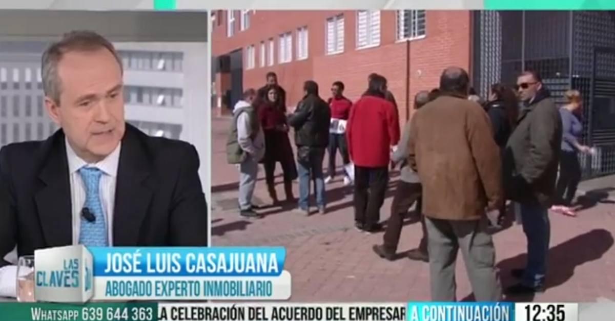 """José Luis Casajuana Espinosa en el programa """"Las Claves del Día"""" de Telemadrid"""