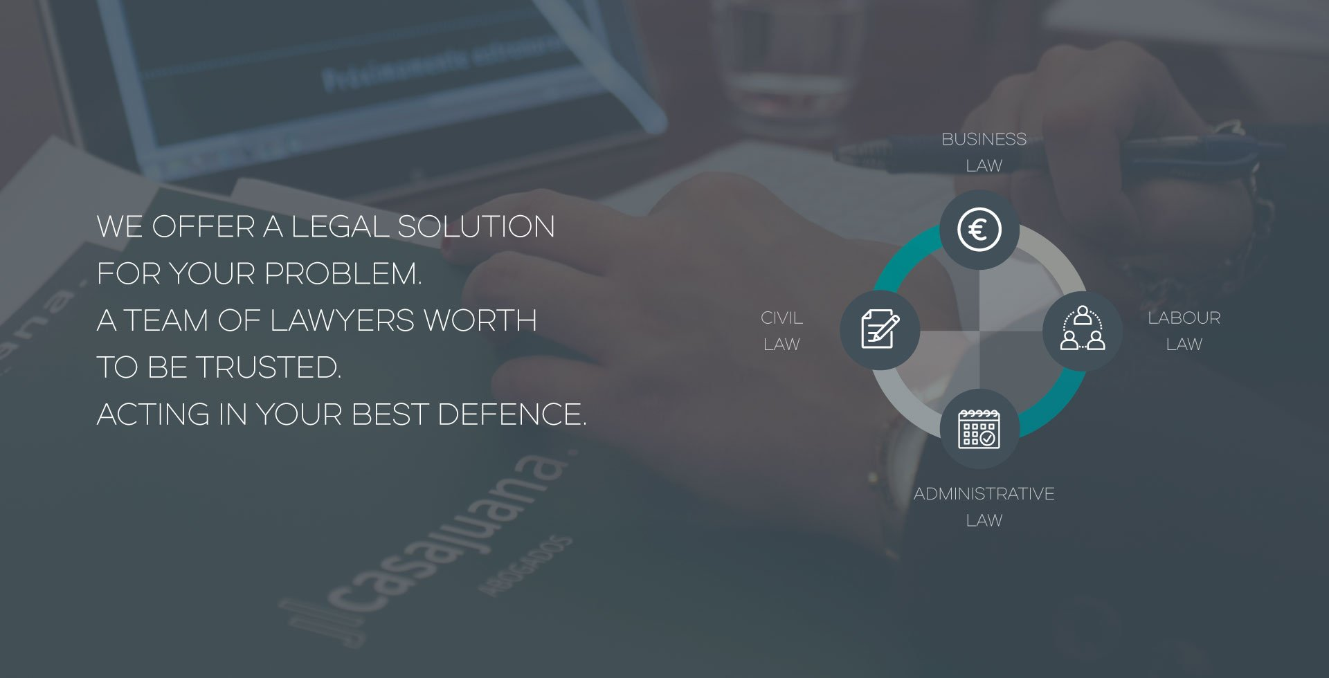 We offer a legal solution for your problem. A team of lawyers worth to be trusted. Acting in your best defence.